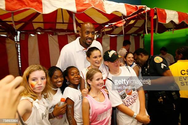 Alonzo Mourning of the Miami Heat attends the 2007 Family Festival on April 15 2007 at Watson Island in Miami Florida NOTE TO USER User expressly...