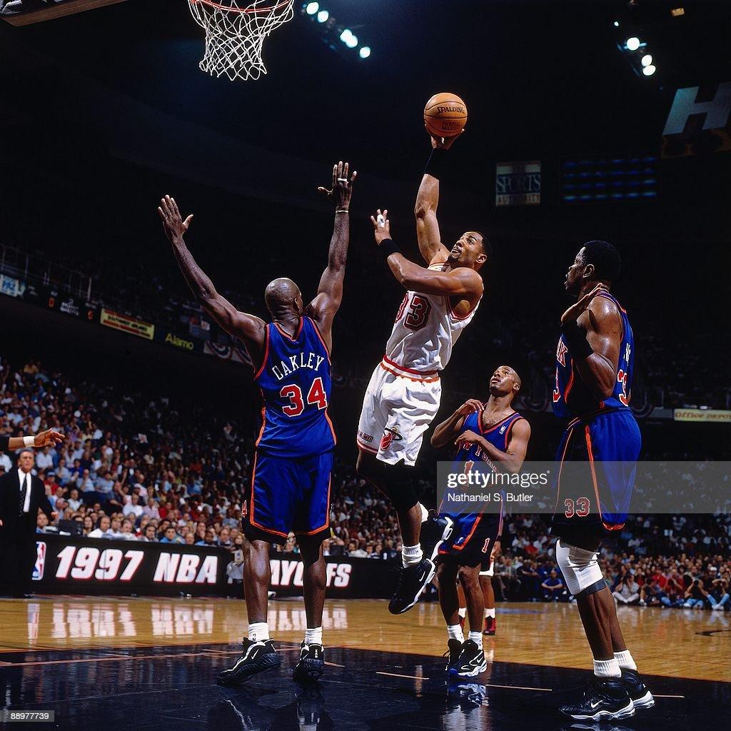 Resultado de imagen de knicks heat playoffs 1997