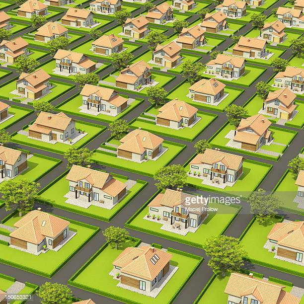 Alot of houses