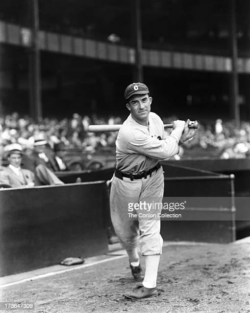 Aloysius H Simmons of the Chicago White Sox swinging a bat in 1933