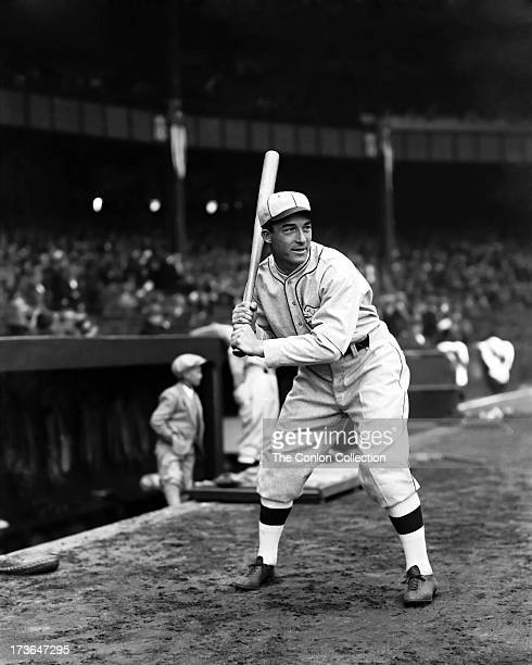 Aloysius H Simmons of the Philadelphia Athletics at bat in 1930