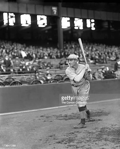Aloysius H Simmons of the Philadelphia Athletics swinging a bat in 1924
