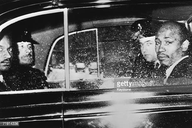 Aloysius 'Lucky' Gordon and Johnny Edgecombe witnesses in the Profumo Affair leave the Treasury by car with a police escort 10th July 1963 Both men...