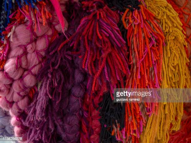 alpaca yarns of different colors