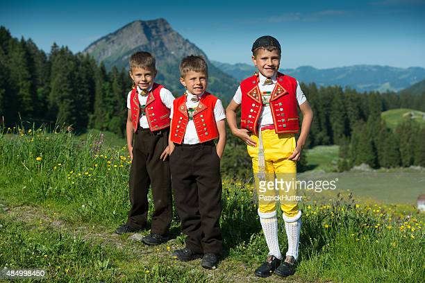 alpaufzug - traditional clothing stock pictures, royalty-free photos & images