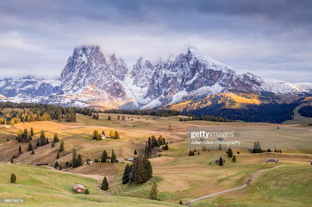 Alpe Di Siusi (Seiser Alm), Dolomites, Italy. : Stock Photo