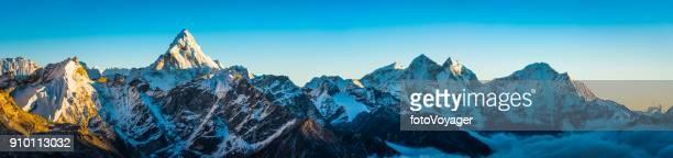 アルペングロー ヒマラヤ山山頂パノラマ海部 Dablam Kangtega Khumbu ネパール