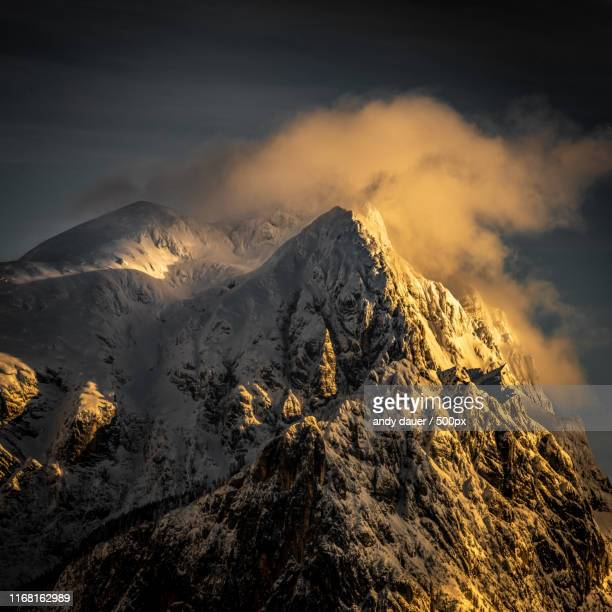 alpenglow - andy dauer stock photos and pictures