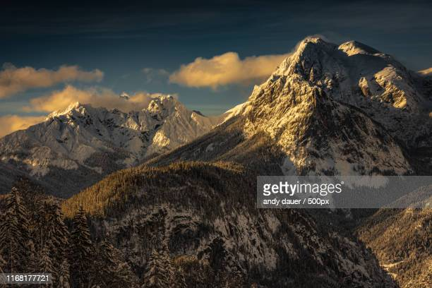 alpenglow vii - andy dauer stock photos and pictures