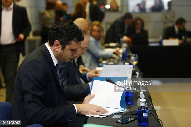 Alper Yilmaz during the ECA Shareholders Executive Board Meeting at Ciudad Deportiva Real Madrid on April 12 2018 in Madrid Spain