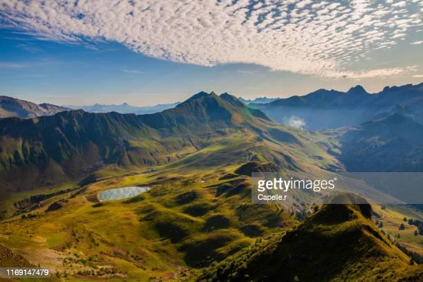 alpes françaises - haute-savoie - le grand bornand stock pictures, royalty-free photos & images