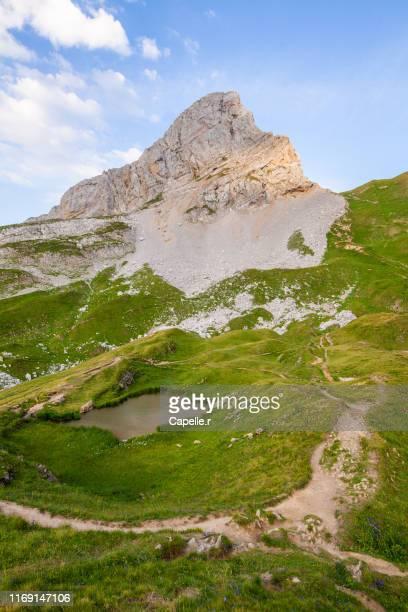 alpes françaises - lac de peyre - haute savoie stock pictures, royalty-free photos & images