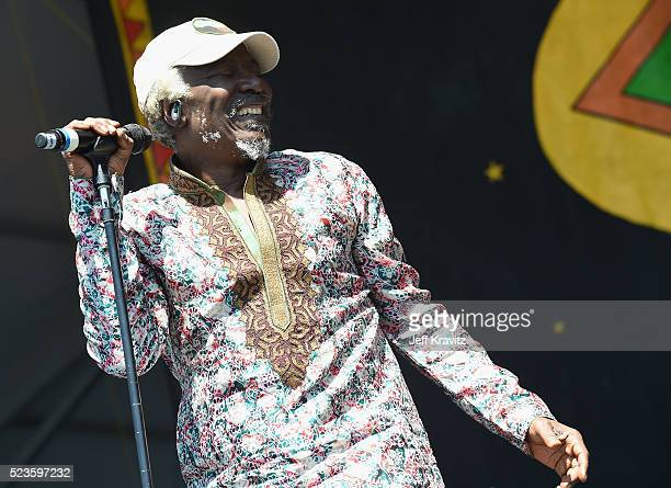 Alpha Blondie and the Solar System perform onstage at the 2016 New Orleans Jazz & Heritage Festival at Fair Grounds Race Course on April 23, 2016 in...