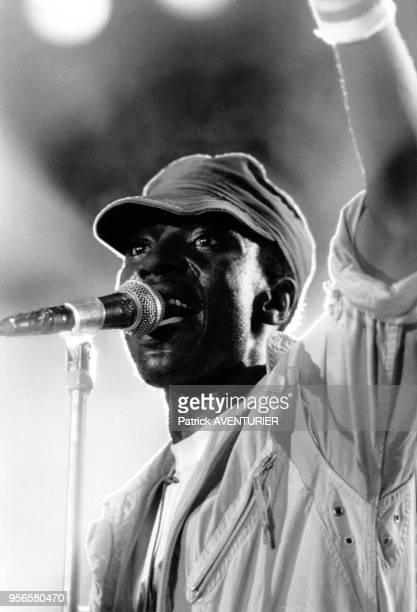Alpha Blondy en concert lors de la fête de la jeunesse à Alger Algérie en juillet 1986
