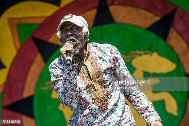 Alpha Blondy performs at Fair Grounds Race Course on April 23 2016 in New Orleans Louisiana