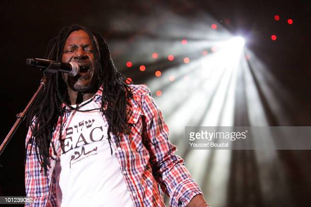 Alpha Blondy performs during day 7 of the Festival Mawazine 2010, Rythmes du Monde on May 27, 2010 in Rabat, Morocco.