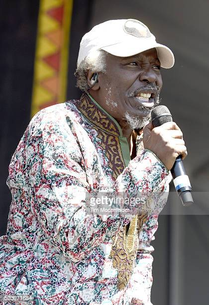 Alpha Blondy performs during the 2016 New Orleans Jazz Heritage Festival at Fair Grounds Race Course on April 23 2016 in New Orleans Louisiana