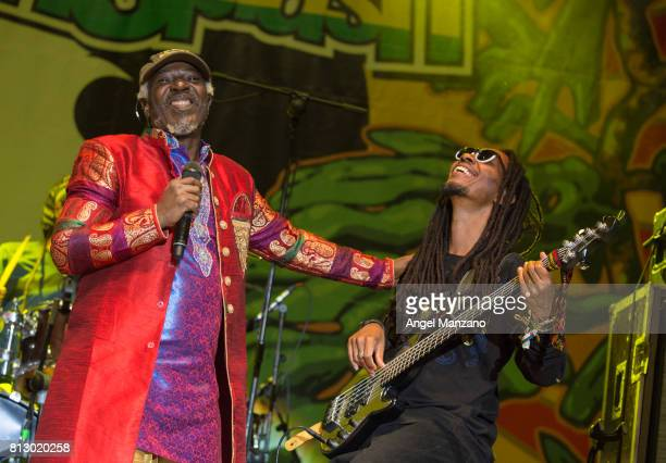 Alpha Blondy performs on stage at Noches del Botanico on July 9 2017 in Madrid Spain