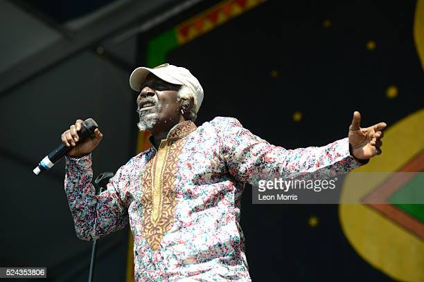 Alpha Blondy performs on stage at the New Orleans Jazz and Heritage Festival on April 23 2016 in New Orleans Louisiana