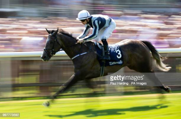 Alpha Centauri ridden by C O'Donoghue wins the Tattersalls Falmouth Stakes during day two of The Moet Chandon July Festival at Newmarket Racecourse