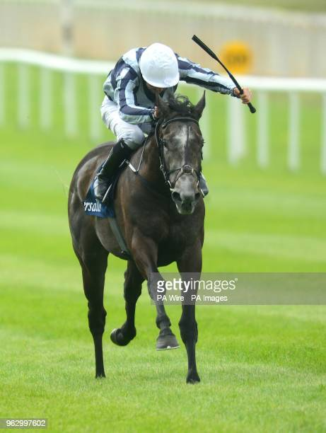 Alpha Centauri ridden by Colm O'Donoghue go on to win the Tattersalls 1000 Guineas during day two of the 2018 Tattersalls Irish Guineas Festival at...