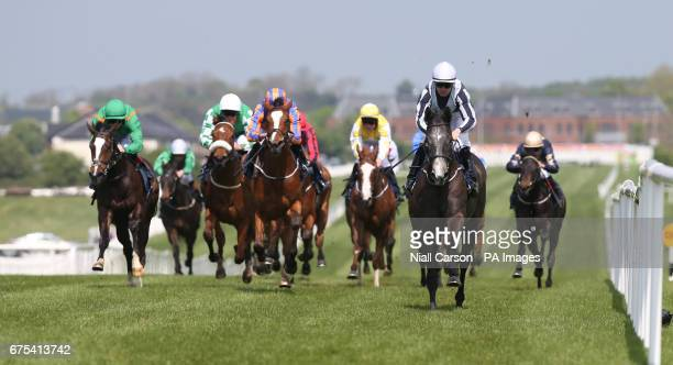 Alpha Centauri ridden by Colm O'Donoghue wins the Coolmore No Nay Never Irish EBF Fillies Maiden at Naas Racecourse PRESS ASSOCIATION Photo Picture...