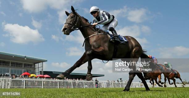 Alpha Centauri ridden by Colm O'Donoghue wins the Coolmore No Nay Never Irish EBF Fillies Maiden at Naas Racecourse