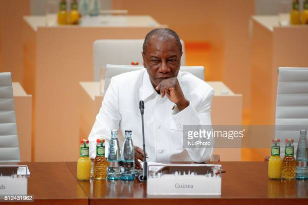 Alpha Conde Guineas first freely elected president and head of the African Union is seen ahead of the thrid plenar working session at the G20 summit...