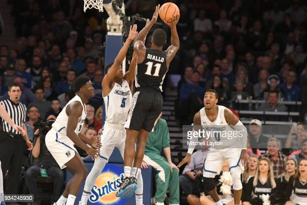 Alpha Diallo of the Providence Friars shoots during the quarterfinal round the Big East Men's Basketball Tournament against the Creighton Bluejays at...