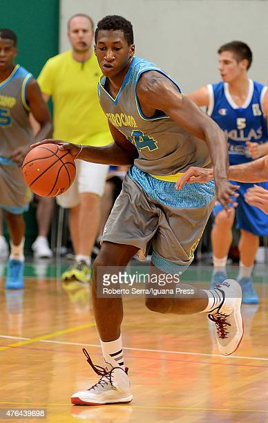 Alpha Kaba in action during adidas Euriocamp Day 1 at La Ghirada sports center on June 6 2015 in Treviso Italy