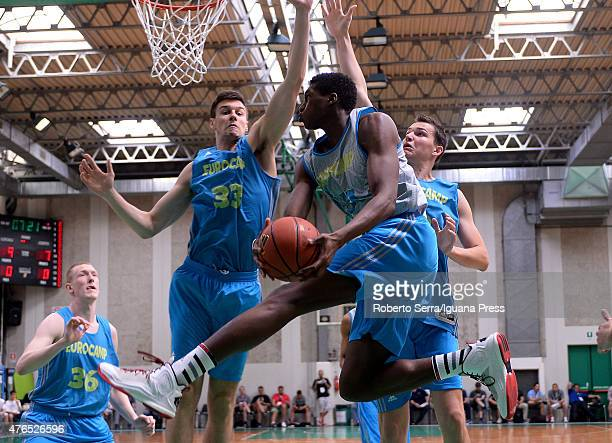 Alpha Kaba in action during adidas Eurocamp at La Ghirada sports center on June 8 2015 in Treviso Italy