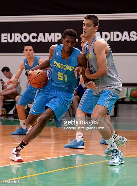 Alpha Kaba in action during the adidas Eurocamp at La Ghirada sports center on June 7 2015 in Treviso Italy