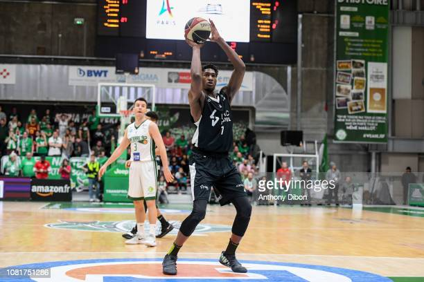 Alpha Kaba of Asvel during the Jeep Elite match between Nanterre and Lyon Villeurbanne on January 12 2019 in Nanterre France