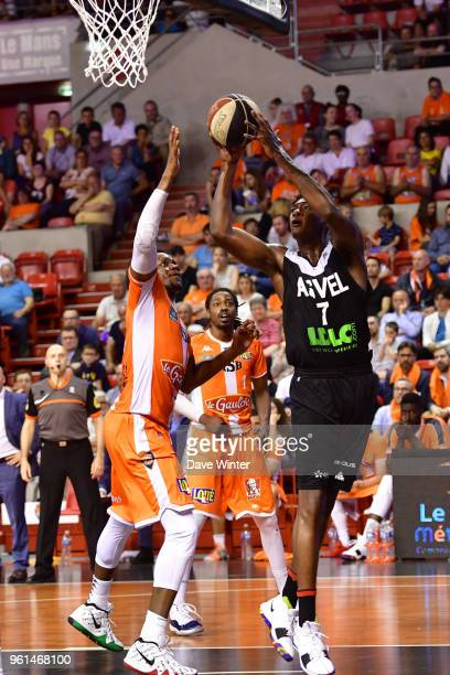 Alpha Kaba of ASVEL during the Jeep Elite quarterfinal playoff match between Le Mans and Lyon Villeurbanne on May 22 2018 in Le Mans France