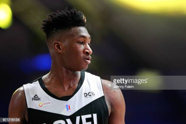 Alpha Kaba of ASVEL during the Leaders Cup match between Strasbourg and Lyon Villeurbanne on February 16 2018 in Paris France
