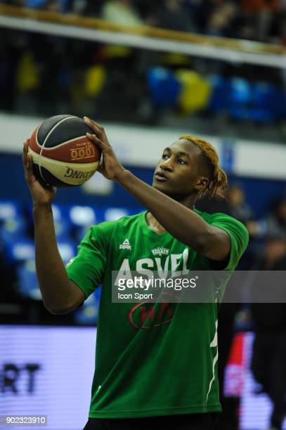 Alpha Kaba of ASVEL during the Ligue A match between Levallois and Lyon Villeurbanne Asvel on January 7 2018 in LevalloisPerret France