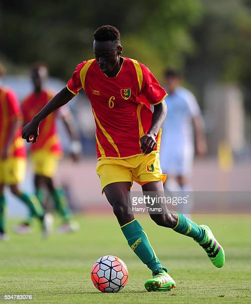 Alpha Kaba of Guinea during the Toulon Tournament match between Guinea and Japan at Stade Antoinr Baptiste on May 25 2016 in SixFoursLesPlages France