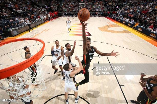 Alpha Kaba of the Atlanta Hawks goes to the basket against the Utah Jazz on July 5 2018 at Vivint Smart Home Arena in Salt Lake City Utah NOTE TO...
