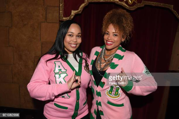 Alpha Kappa Alpha Sorority Inc members attend 'School Daze' 30th Anniversary Screening at The Fox Theatre on February 19 2018 in Atlanta Georgia