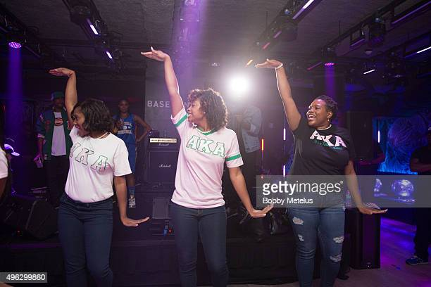 Alpha Kappa Alpha Sorority preforms at Gabrielle Union's 'School Daze' birthday celebration Step Show at The Basement at The Edition Hotel on...