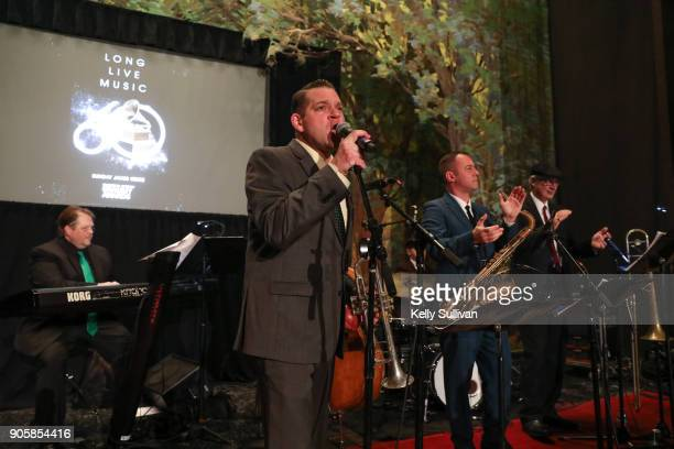Alpha Rythm Kings perform onstage at the San Francisco 60th GRAMMY Award Nominee Celebration on January 16 2018 in San Francisco California