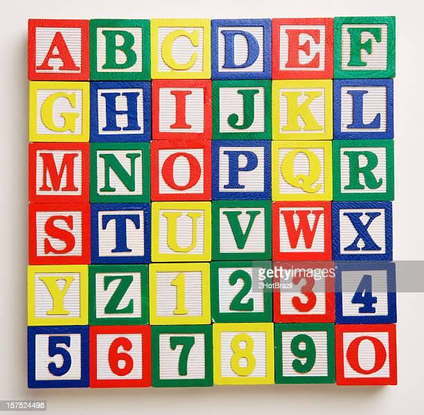 Alfabeto y números cuadras, XXXL