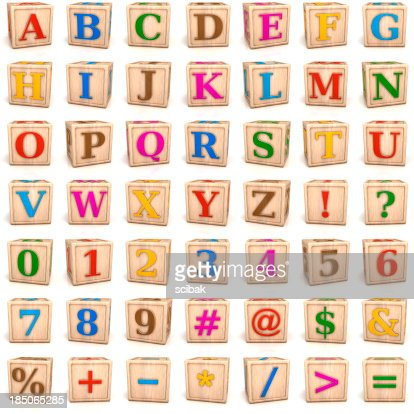 Number Names Worksheets number letter alphabet : Alphabet Blocks Letters And Numbers Stock Photo | Getty Images