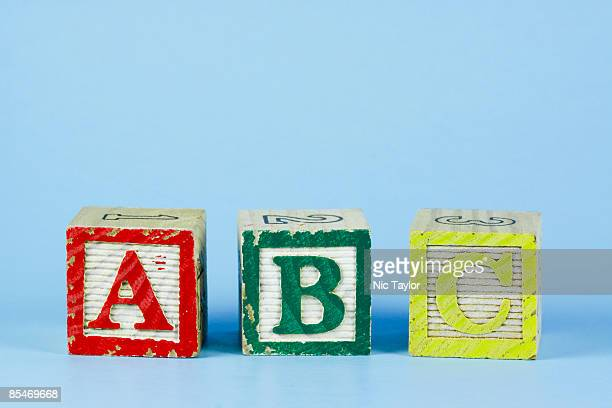 ABC Alphabet Blocks on Blue