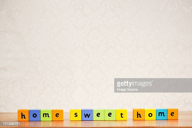 Alphabet blocks spelling home sweet home