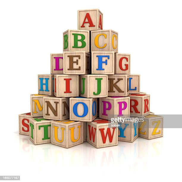 Alphabet blocks stack