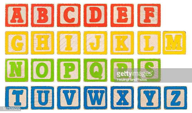 alphabet blocks xxl - capital letter stock pictures, royalty-free photos & images