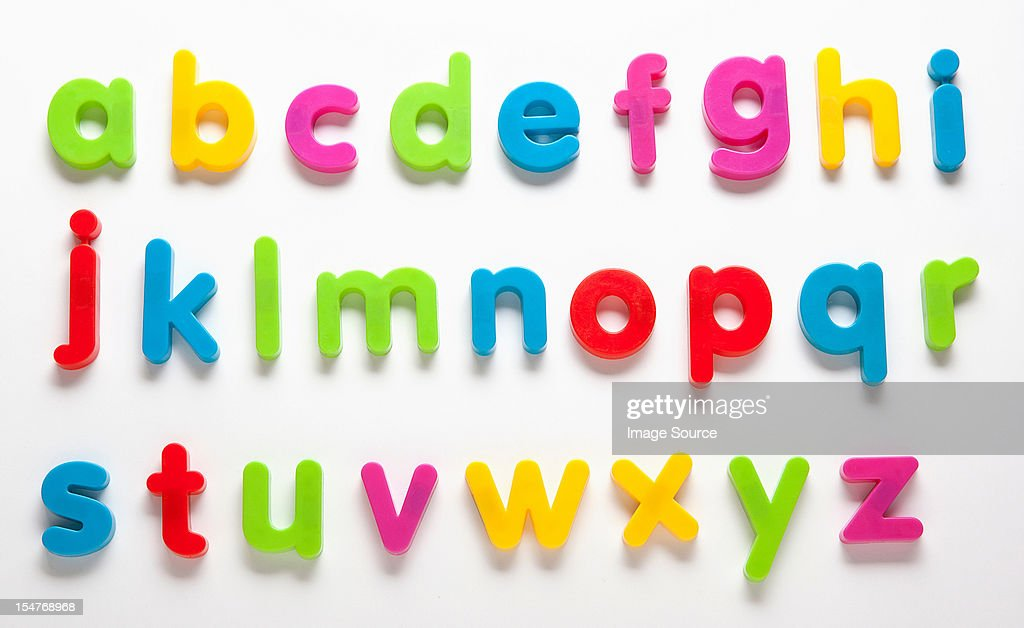 Alphabet fridge magnets : Foto de stock