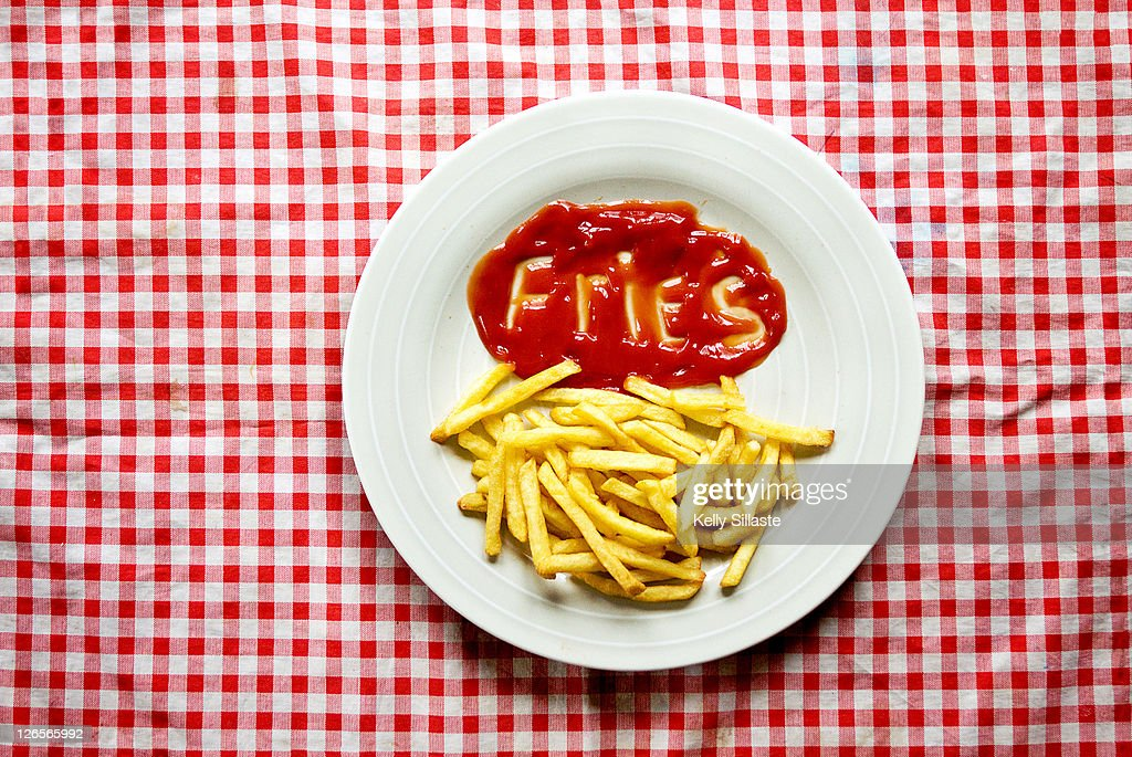 Alphabet ketchup : Stock Photo