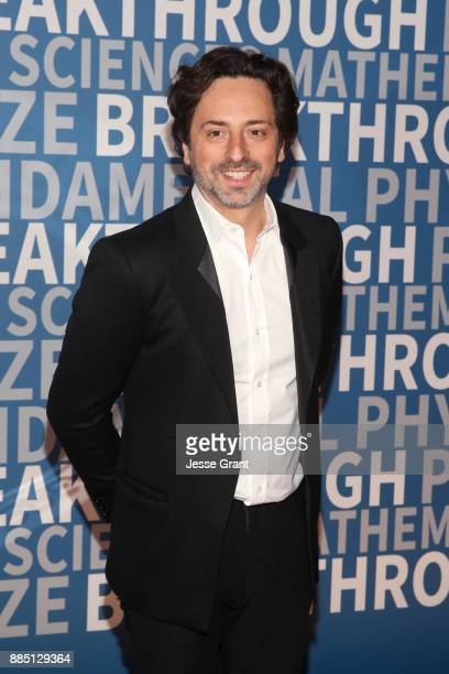 Alphabet president Sergey Brin attends the 2018 Breakthrough Prize at NASA Ames Research Center on December 3 2017 in Mountain View California